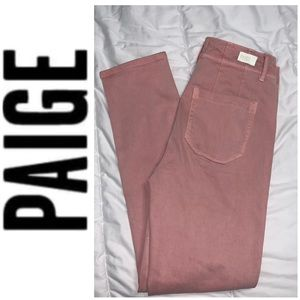 PAIGE Verdugo Pink Distressed Jeans Size 27